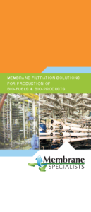 Membrane Filtration for Bio-Fuels and Bio-Products