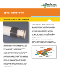Spiral Membrane Filters
